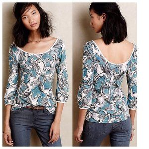 Horse Print Top (Anthropologie)